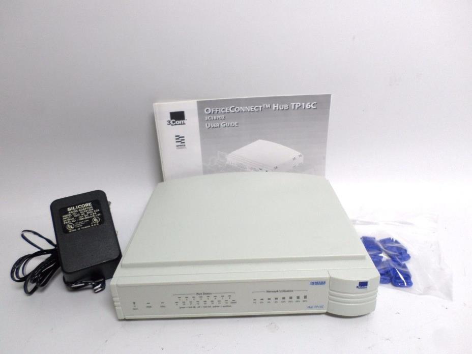 3Com Office Connect TP16C Ethernet Hubs (3C16702)