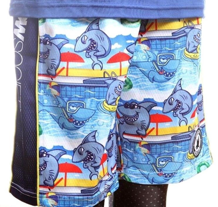 FLOW SOCIETY SHARK POOL LACROSSE SHORTS YOUTH