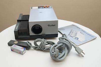 Rollei P350AF Slide Projector W/ Heidosmat 85mm 2.8 Lens TESTED EXTRAS!