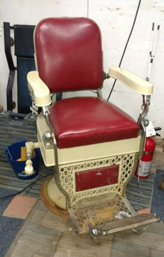 THEO KOCH BARBER CHAIR *EST. 1920's **MAKE OFFER WE CANT REFUSE!!**
