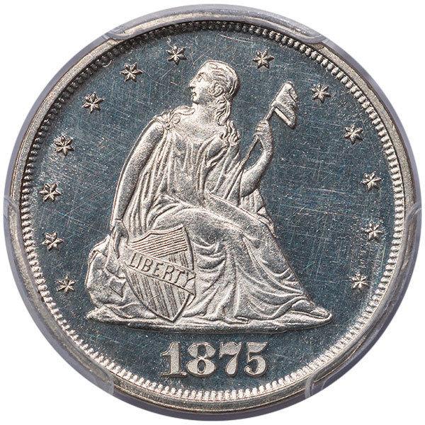 1875 20C PCGS PR63CAM