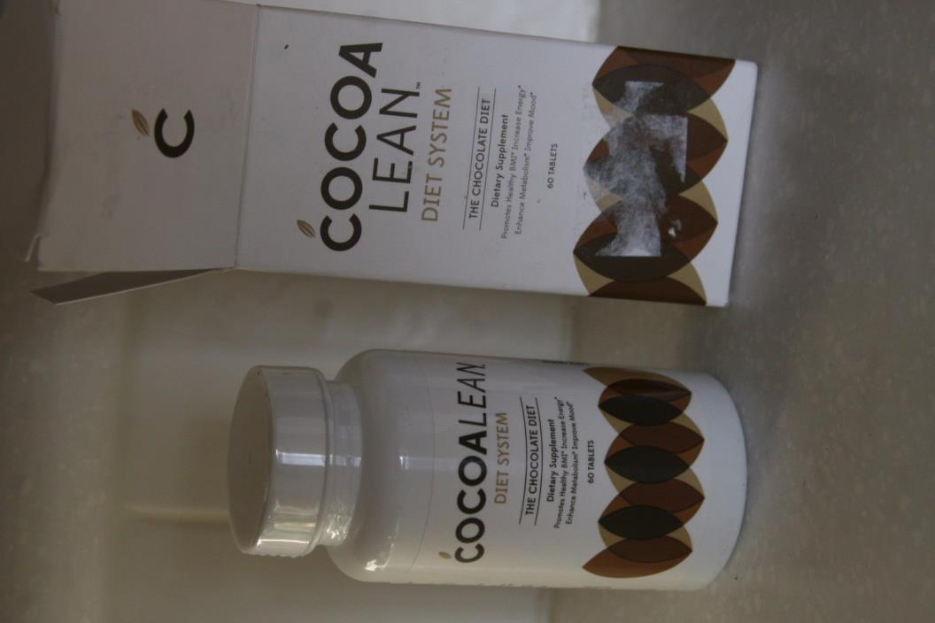 COCOA LEAN Diet System-The Chocolate Diet 60 tablets NEW Exp:  02/18