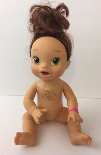 2013 Baby Alive Doll BABY ALL GONE Talks Interactive Brunette Green Eyes Works