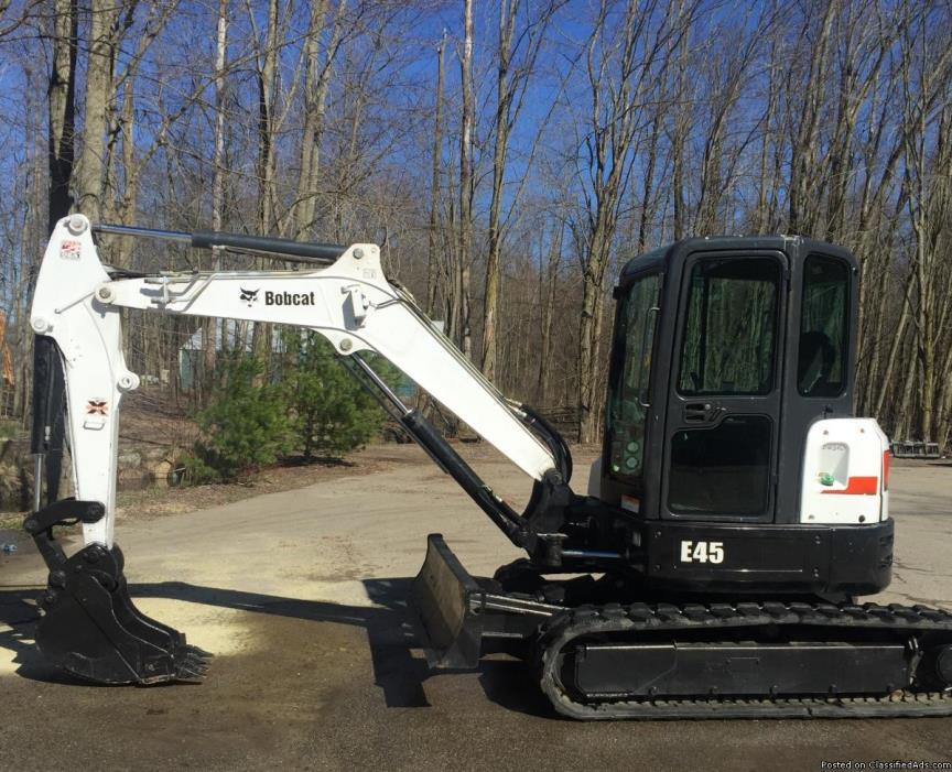 2014 Bobcat E45 Mini Excavator