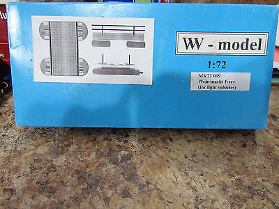 RARE WEHRMACHT FERRY 9FOR LIGHT VEHICLES) 1/72 RESIN