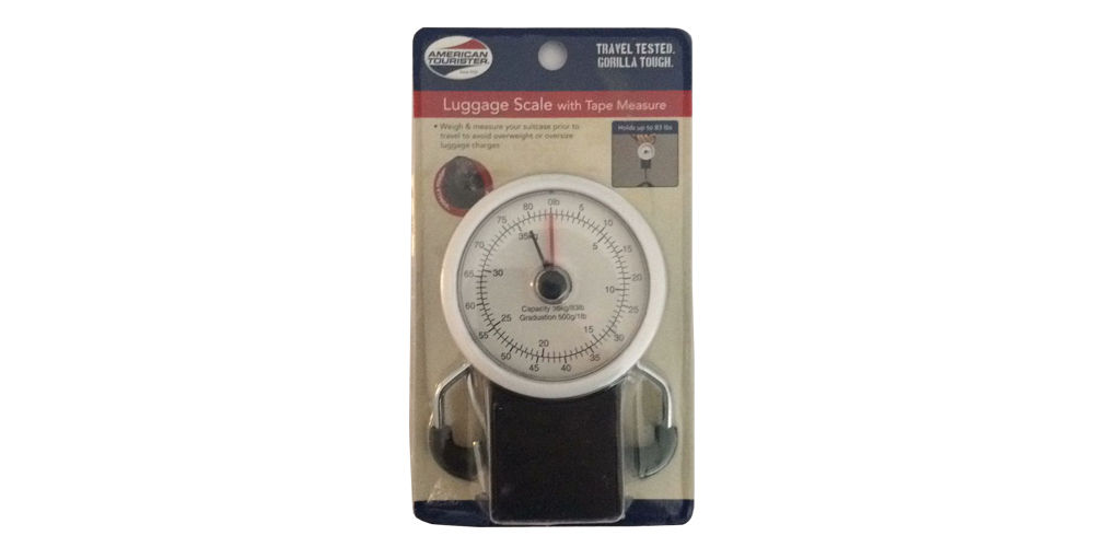 Manual Luggage Scale Hanging Travel Scale With Measuring Tape