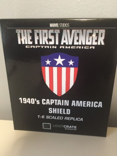 Loot Crate January 2017 Captain America Golden Age Shield 1:6 Scaled Replica
