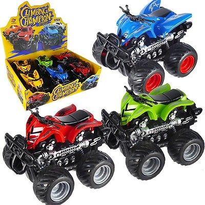 Friction Powered ATV 4 Wheeler Toy Vehicle w/ Display Box (Pack of 6X)