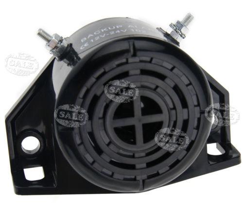 105DB 12V Automobiles Reverse Back Up Horn Speaker Buzzer Alarming System Black