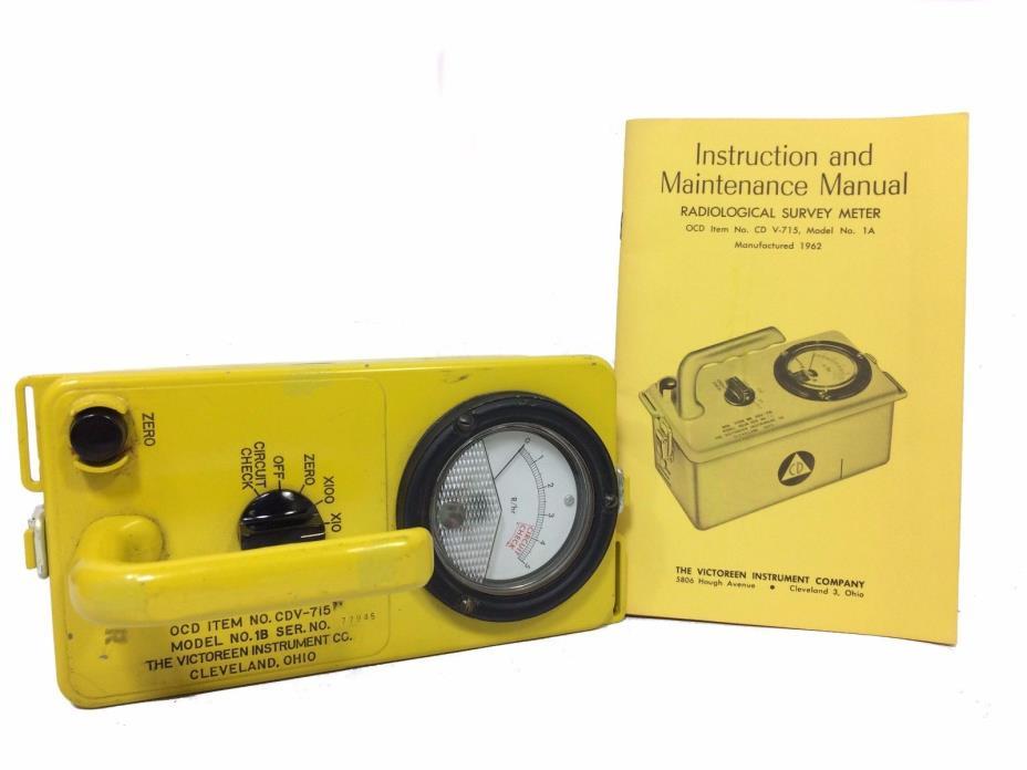 Radiological Survey Meters 2 in original box