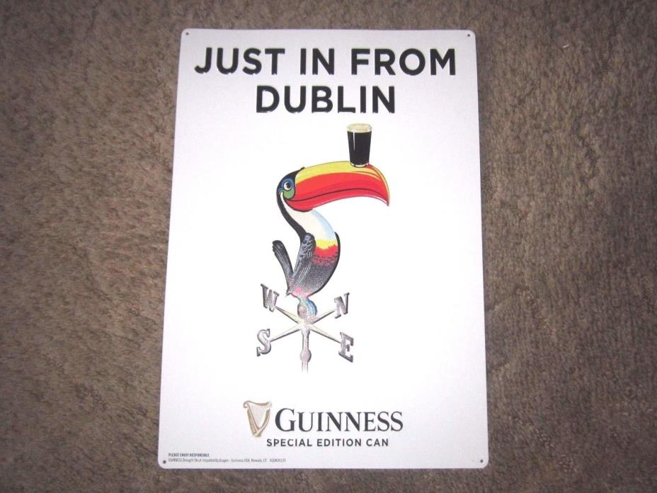 Guinness Beer Sign- Embossed Tin- Excellent Condition