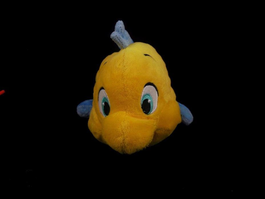 Disney Store Little Mermaid FLOUNDER Fish Stitched Eyes Bean Bag Plush C4