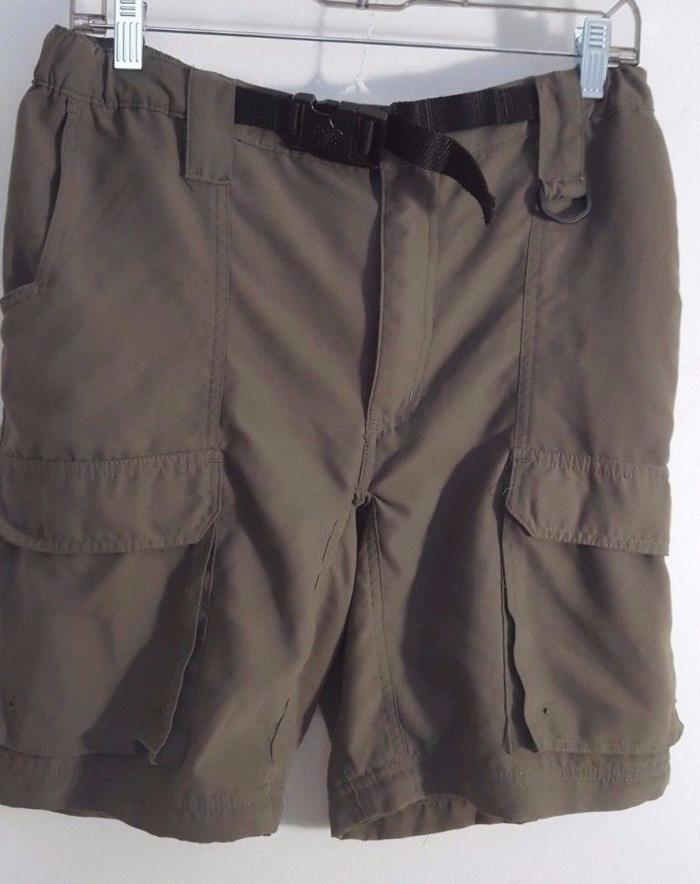 BOY SCOUTS OF AMERICA Uniform Switchback Belted Cargo Poly YOUTH XL Shorts