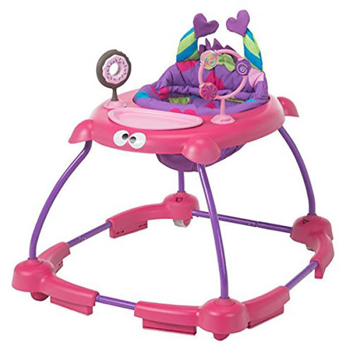 Cosco Simple Steps Adjustable Height Walker w/ Interactive Toys, Monster Shelley