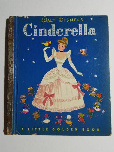Vintage 1st Edition Walt Disney's CINDERELLA Little Golden Book 1950