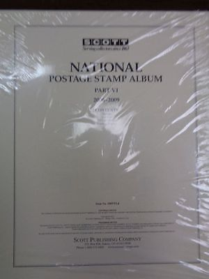 Scott US National Stamp album collection pages supplement 2006-2009 pt 6 100NTL6