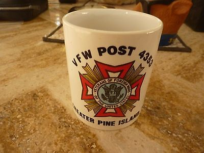 Vintage Ceramic Coffee Mug VFW Post #4353 Pine Island FL USA Made