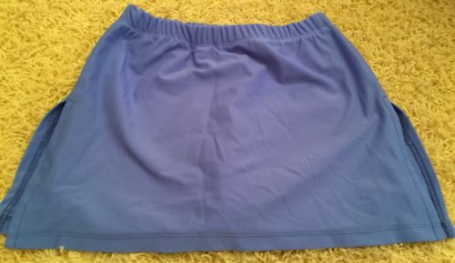 Scoopchicks Girls Athletic Skirt Shorties~Sz YM~Blue ~EUC - Lacrosse Golf Tennis
