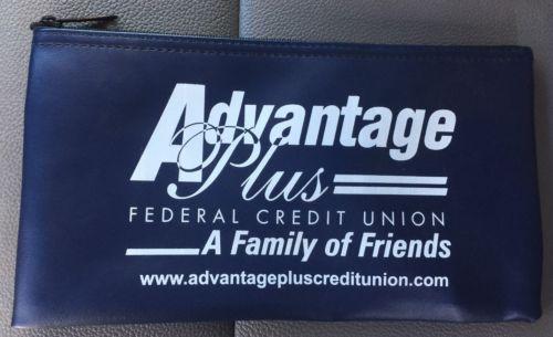 Advantage Plus Federal Credit Union Bank Money Deposit Zipper Bag MINT