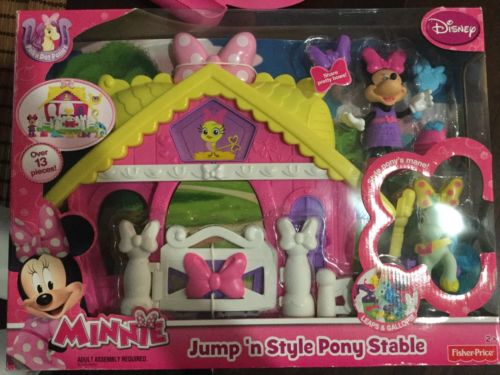 Minnie Jump N Style Pony Stable Fisher Price Disney NEW
