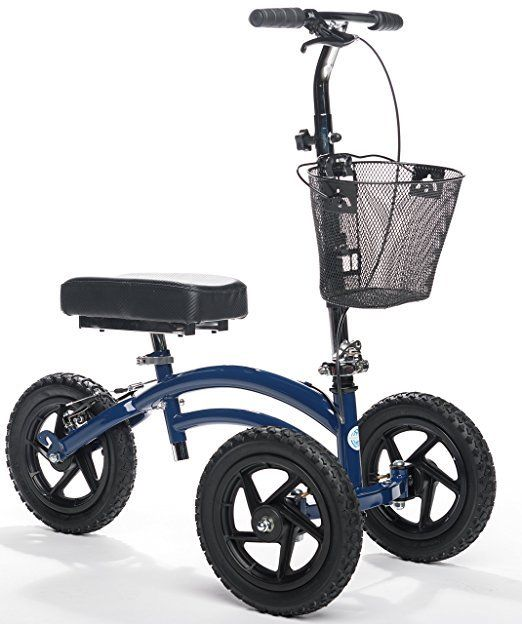 All Terrain Knee Walker Scooter Heavy Duty Bariatric Outdoor KneeRover Blue