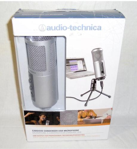 New Audio Technica ATR2500-USB Cardioid Condenser USB Microphone Podcast Record