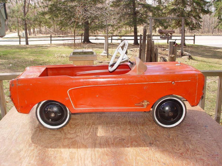Scarce AMF 1964 Ford Mustang Pedal Car...Original ~ Nice