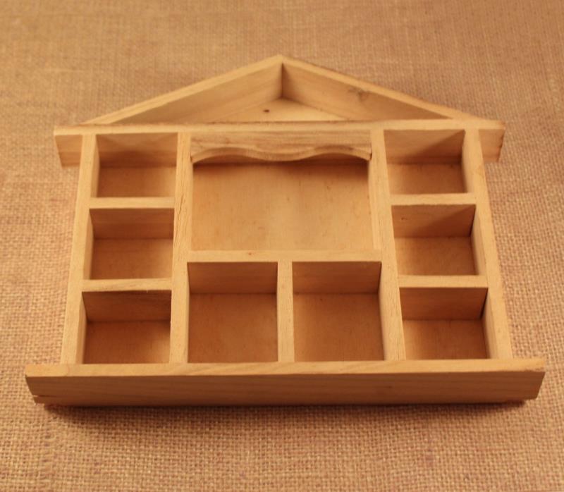 Small Pine House Shelf Shadow Box