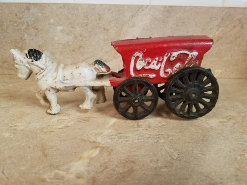 Coca-Cola vintage cast iron horse drawn wagon