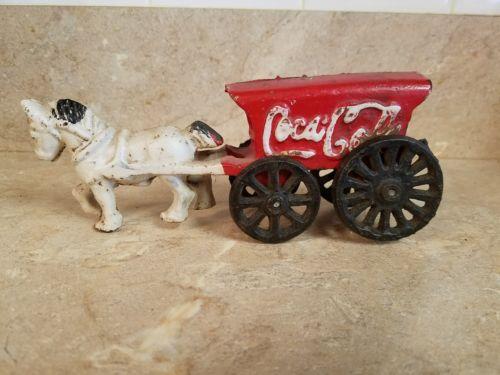 Coca-Cola vintage cast iron horse drawn wagon