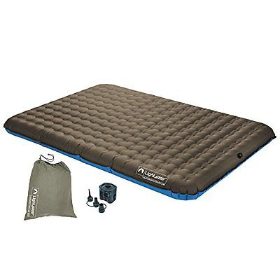 Lightspeed Outdoors Sleeping Pads 2-Person PVC-Free Air Bed w Battery Operated