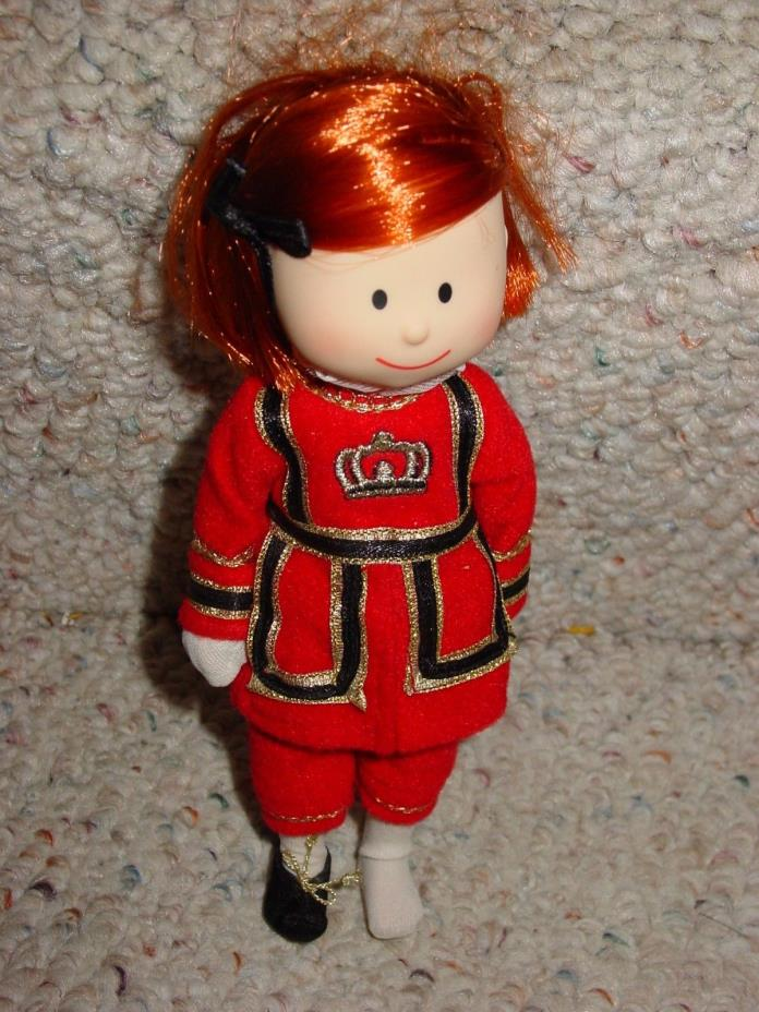 CUTE MADELINE DOLL DRESSED IN ENGLISH TOP AND PANT SET MISSING ONE SHOE