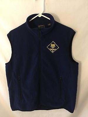 Boy Scouts of America Cub Scouts Men's Fleece Vest Size M Dark Blue Excellent