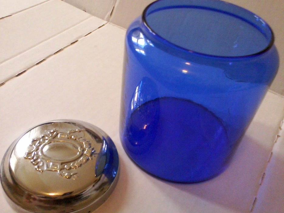 Cobalt Blue Apothecary Jar with Decorative Lid, 5