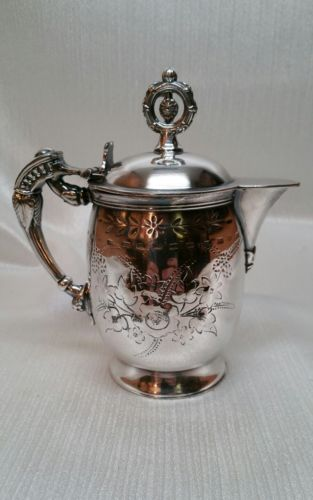 ANTIQUE ROGERS SMITH & CO SILVERPLATE INDIVIDUAL COFFEE circa 1862-77