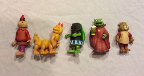 Vintage Teddy Ruxpin PVC figure lot (1986)