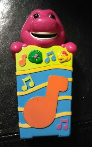 2002 Rare Barney The Dinosaur Toys Talking Cell Phone Jakks  TV Show RARE VHTF