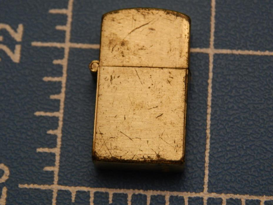 Vintage Gumball Machine Lighter, 1 Inch Tall Gold Tone Slightly Blemished Unused