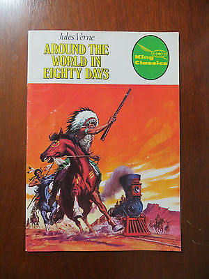 Vintage 1977 King Classics Comic #11 Jiles Verne Around The World In Eighty Days