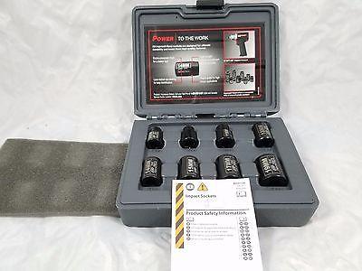 Ingersoll Rand SK3M8 3/8-Inch Drive Metric Standard Impact Socket Set, 8-Piece