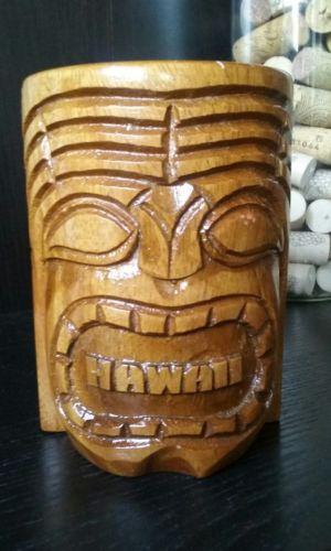 Rare Tiki Mug From Hawaii With Word Hawaii On Front