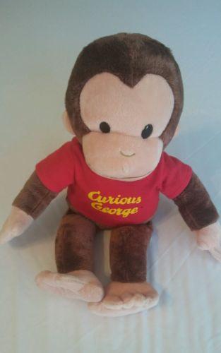 CURIOUS GEORGE plush doll red shirt 16