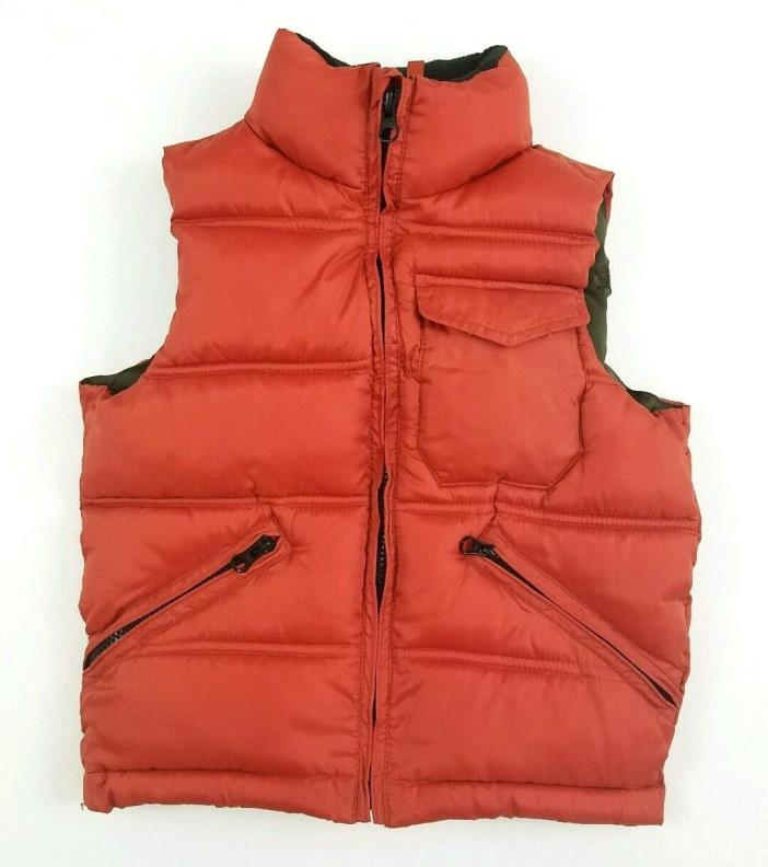 GAP KIDS Unisex Orange Puffer Vest Sz XS / 4-5 $68