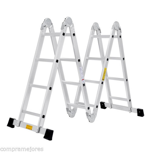 15.4ft 4.7m Extendable Multi Purpose Folding Step Ladder Aluminum Folding Ladder