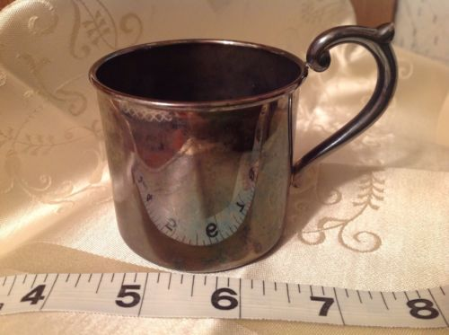 Lenox Silver plate Baby Cup Kirk Steiff Collection Smithsonian Baby Keepsake K03
