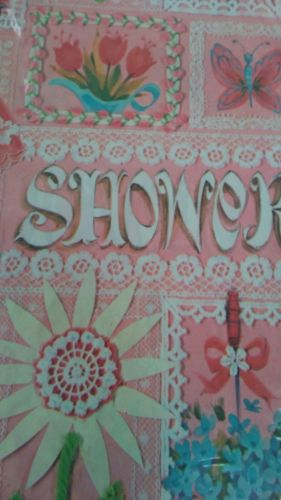 wedding or baby shower gift wrap vintage unused 2 sheets