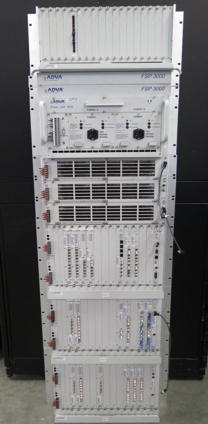 ADVA Optical Networking FSP3000 Fiber Service Platform, Complete System *Loaded*