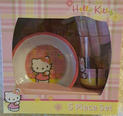 Childrens Dishware - Hello Kitty - 5 Pieces