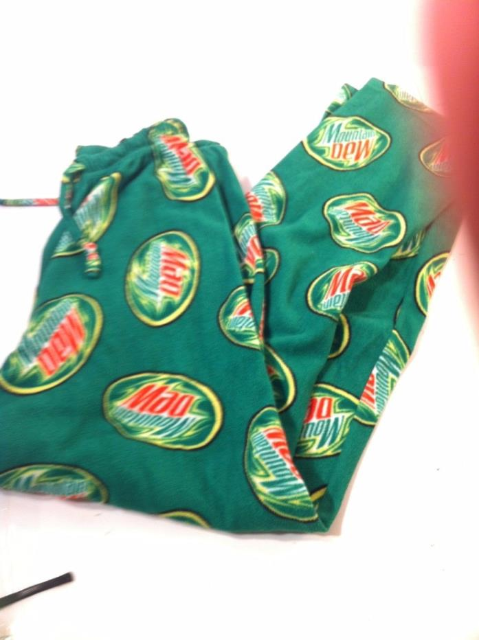 MOUNTAIN DEW MENS LOUNGE PANTS SIZE S--FLEECE--PJs--BOTTOMS---FREE SHIP--VGC