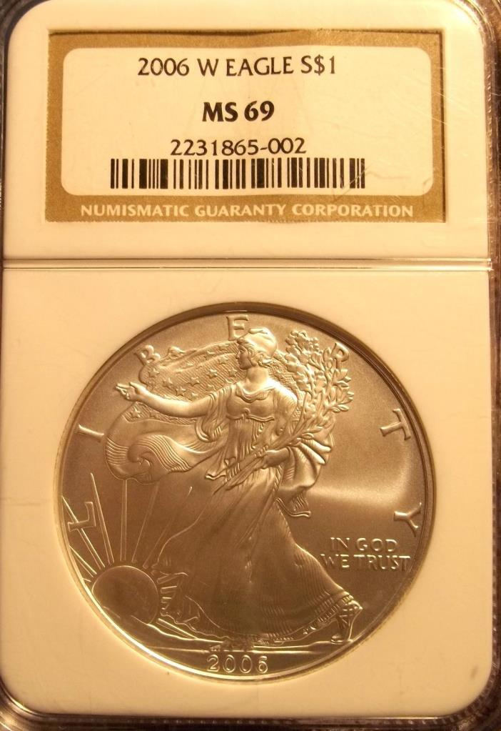 2006-W 1 ounce Silver American Eagle NGC MS-69
